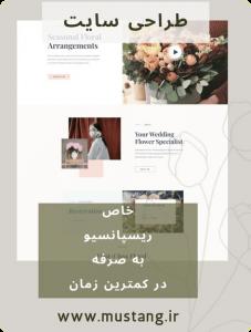 طراحی سایت با موستانگ